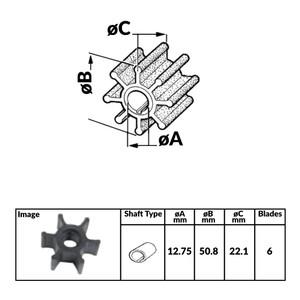 Yanmar Diesel Engine Impeller - 50.8mm