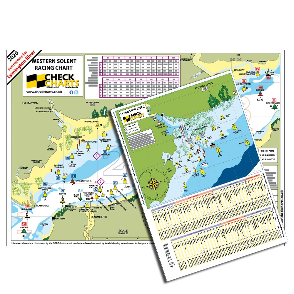 Checkchart - Western Solent inc Lymington River