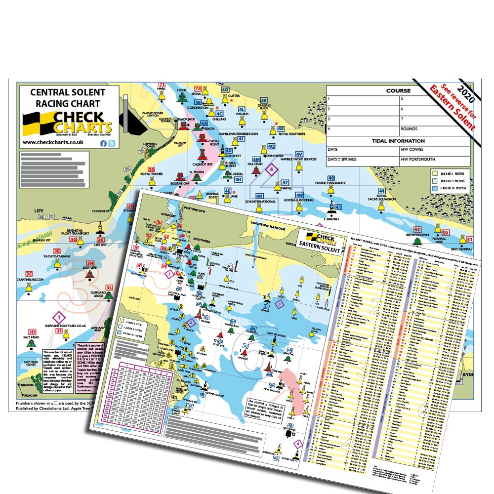 Checkchart - Central & Eastern Solent