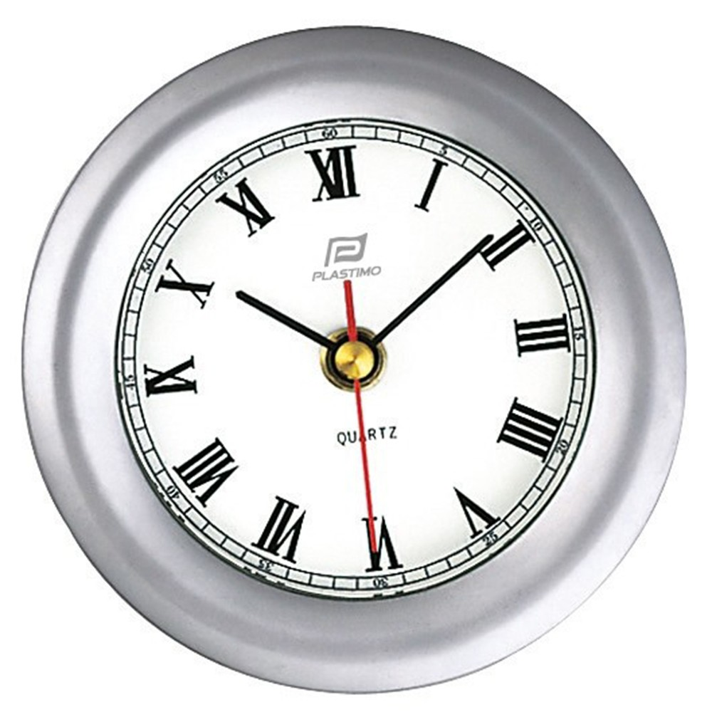 Clock Matt Chrome 4""