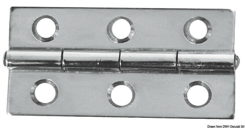 Mirror Polished Rectangular Hinge 60x40mm