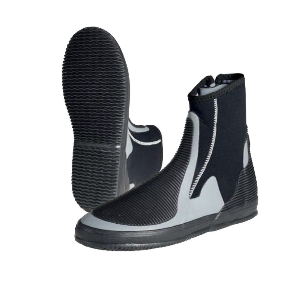 5mm Neoprene Zip Dinghy Boot  Black/Grey