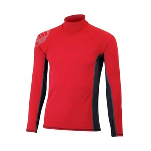 Junior Pro Rash Vest - Red - Long Sleeve - Small