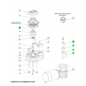 CPX Windlass Driveshaft Kit