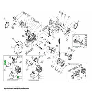 H2 Windlass Motor-Gearbox Assembly 12V