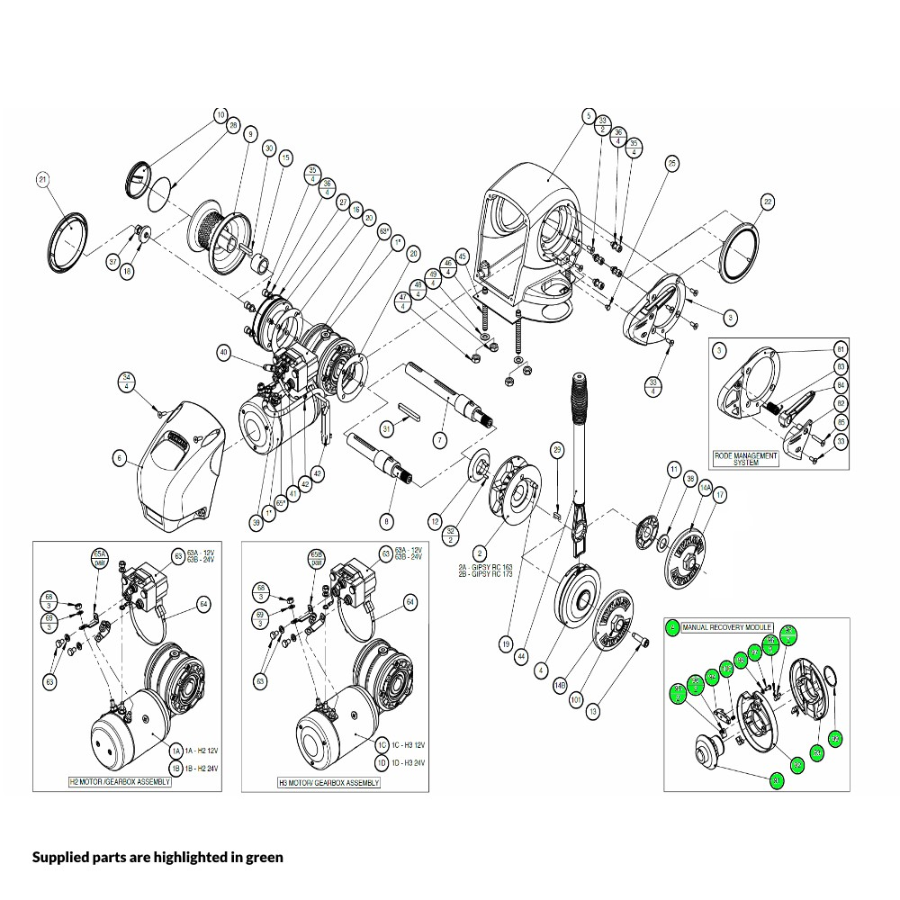 H2-H3 Windlass Manual Recovery Module