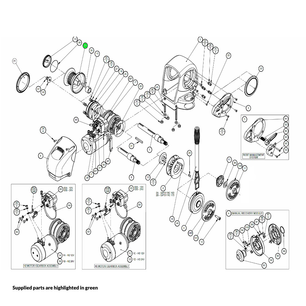H2-H3 Windlass Drum