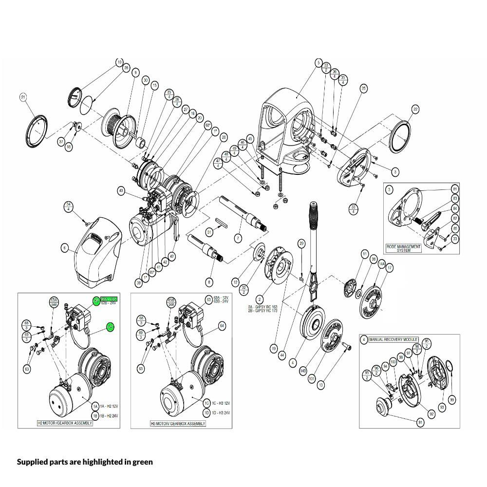H2-H3 Windlass Contactor Kit 12V
