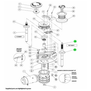 V4-V5 Windlass Mainshaft Assembly Gypsy-Drum
