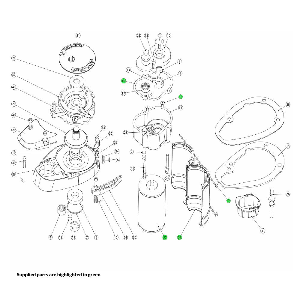 V700 Windlass Motor Kit