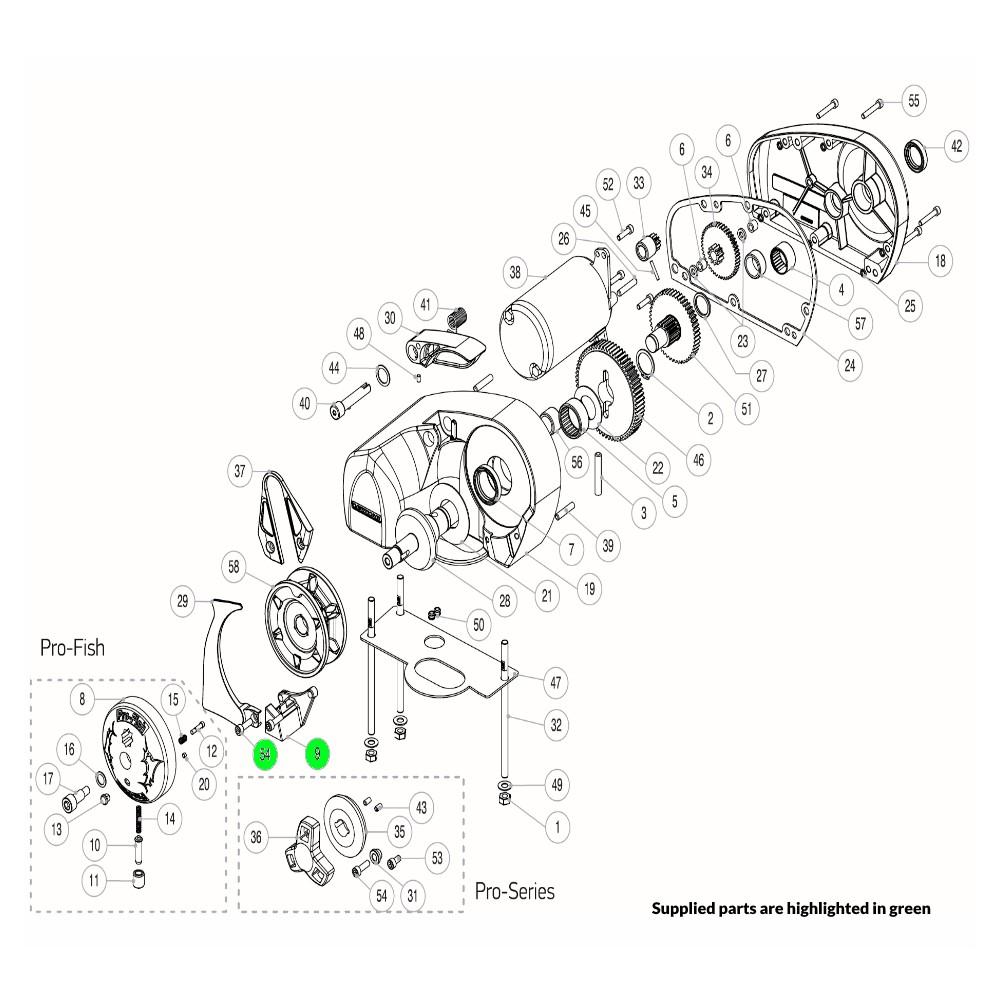 Pro-Series Windlass Pro-Fish Stopper Kit