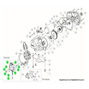 Pro-Series Windlass Pro-Fish Drive Cap Assembly Kit
