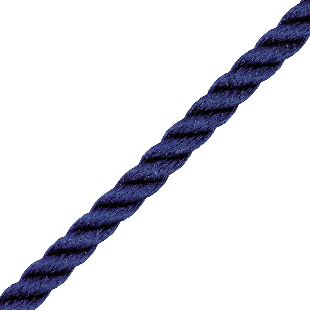 3 Strand Polyester Navy 8mm