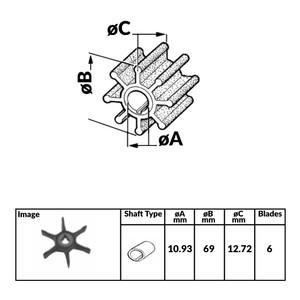 Impeller for Johnson Evinrude 2 Stroke Outboard Engines - 350