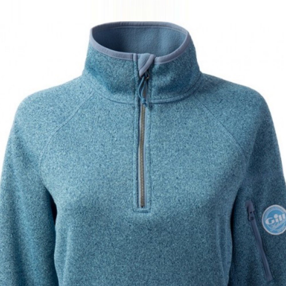 Women's Knit Fleece Blue Melange