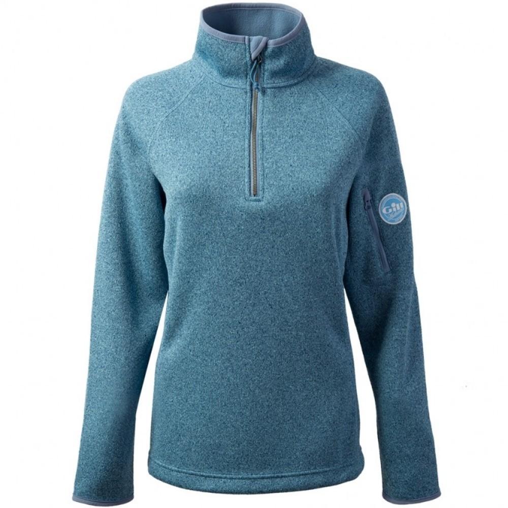 Women's Knit Fleece Blue Melange