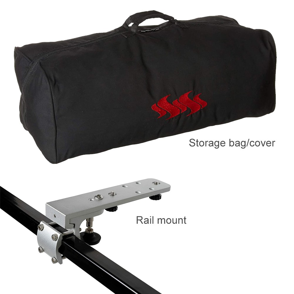 Kuuma 160 Portable Charcoal Barbecue with Rail Mount and Storage Bag