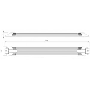 Apollo 24 LED Switched Strip Light