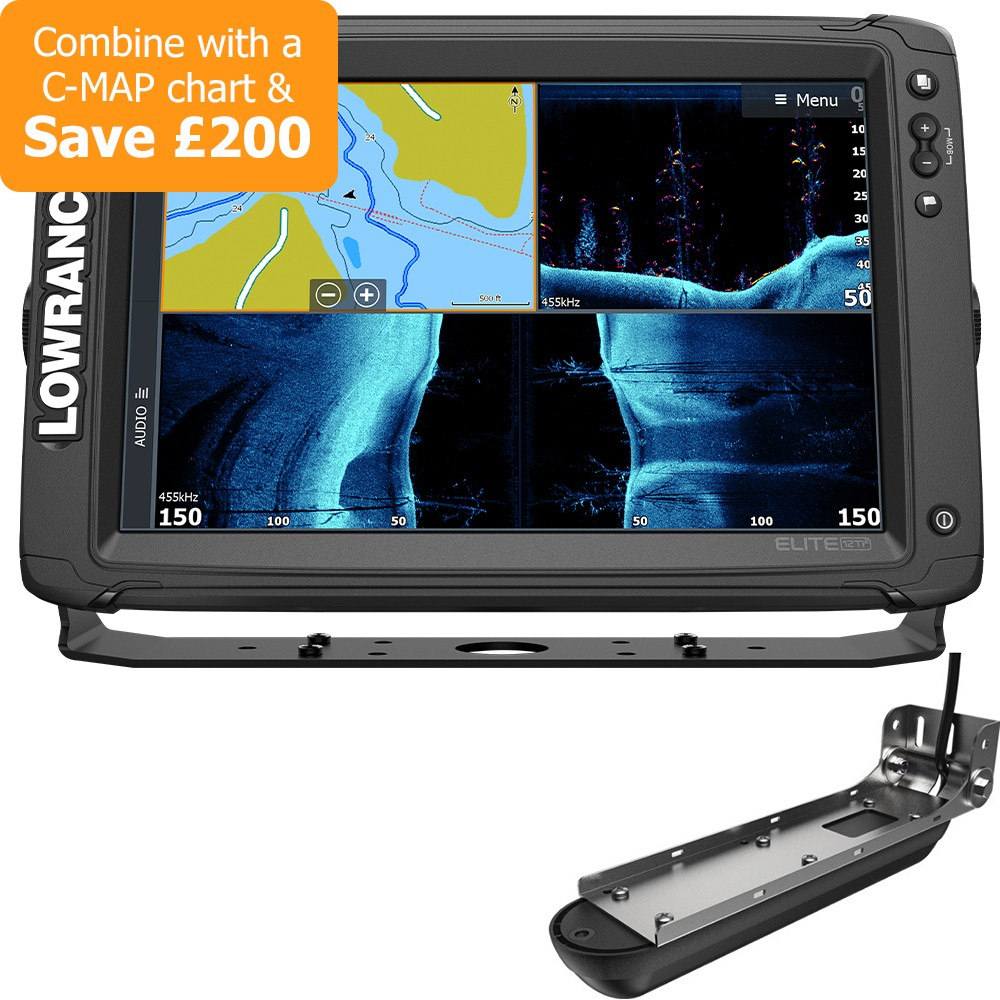 Elite-12 Ti2 Chartplotter & Fishfinder With Active Imaging Transducer