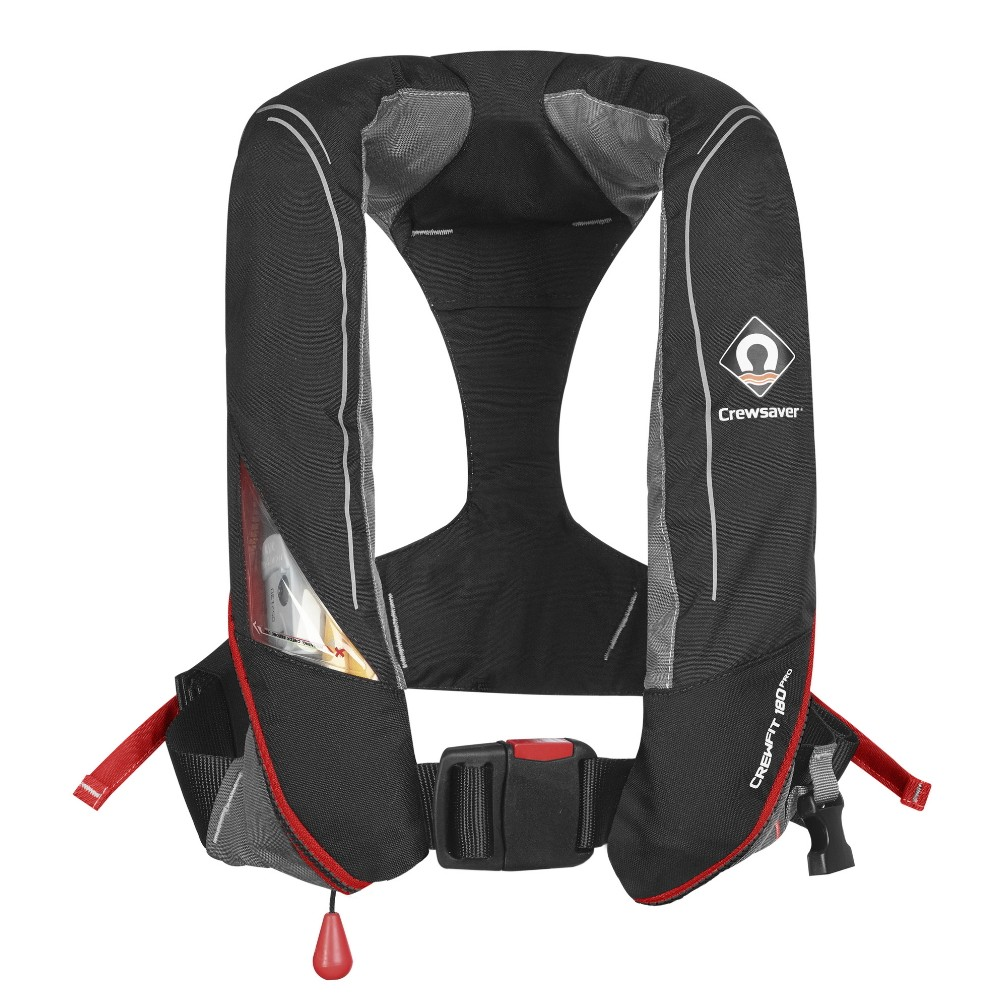 Crewfit 180N Pro Lifejacket Manual - Black Red