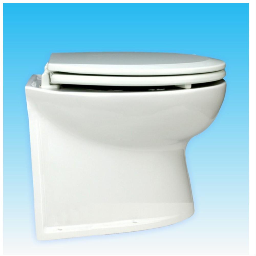 """12V Deluxe Flush Toilet 14"""" Straight Back"""
