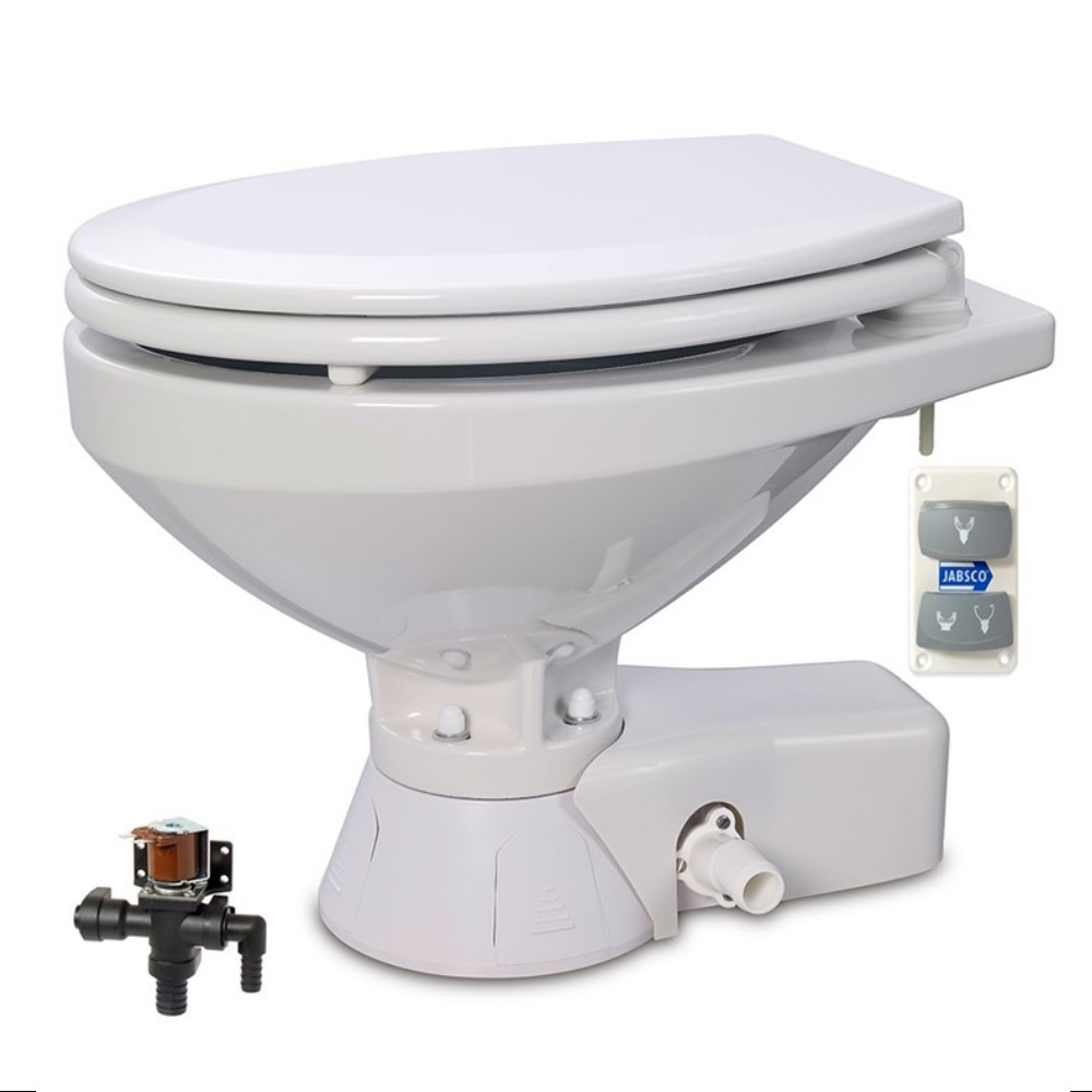 Quiet Flush Fresh Water Toilet 12V Large