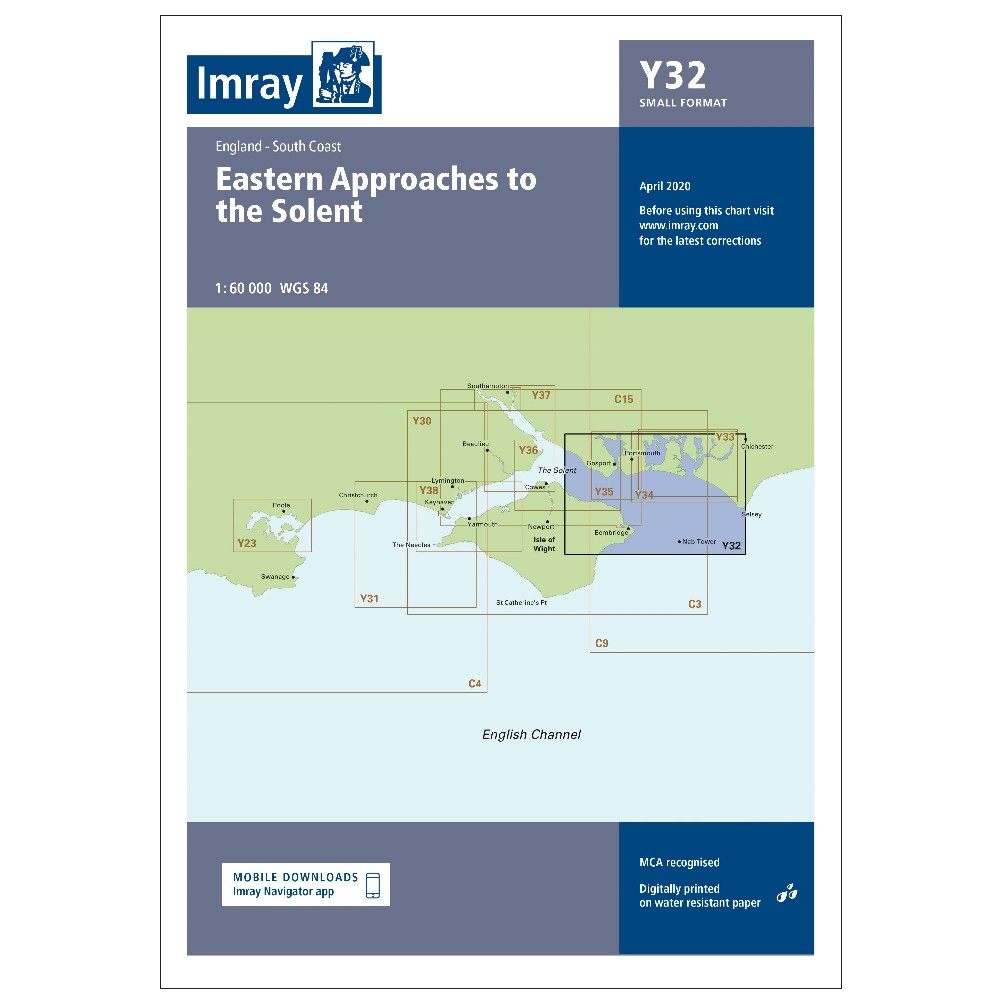 Y32 Eastern App Solent Chart (Replaces 2200-3)