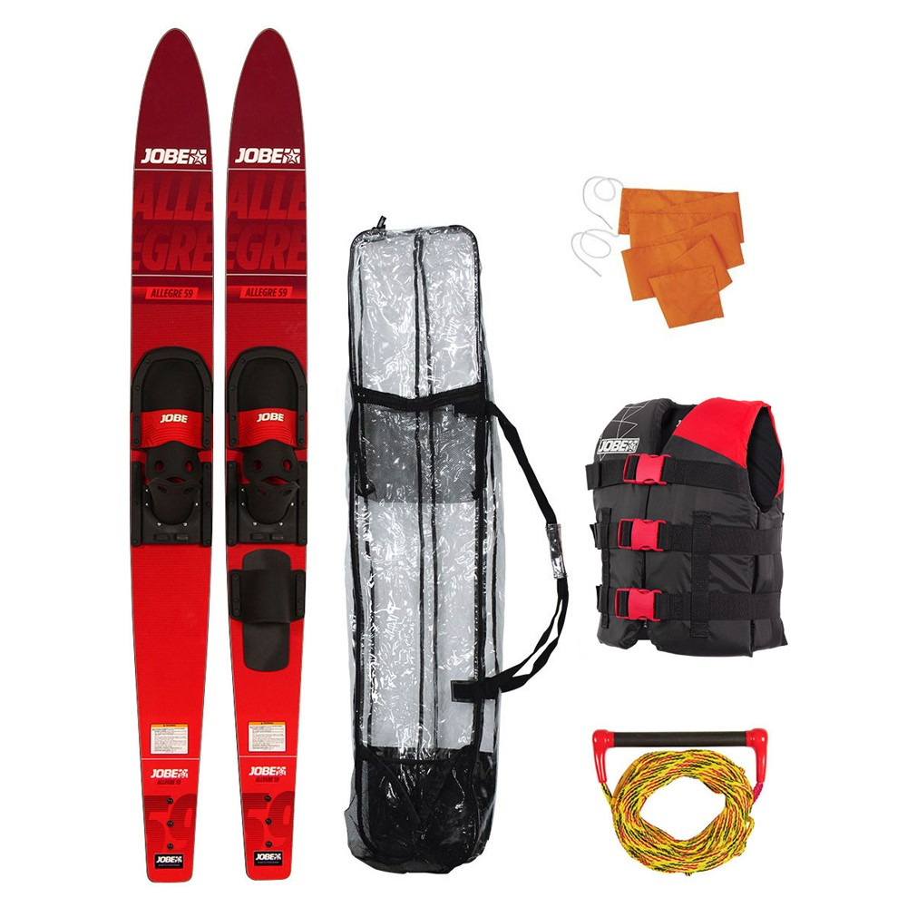 "Allegre 59"" Combo Waterski Package Red"
