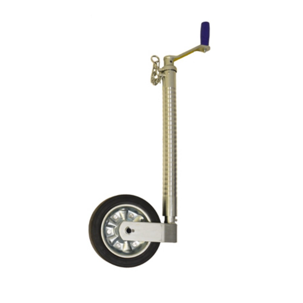 Heavy Duty Jockey Wheel - 48mm Ribbed Tube