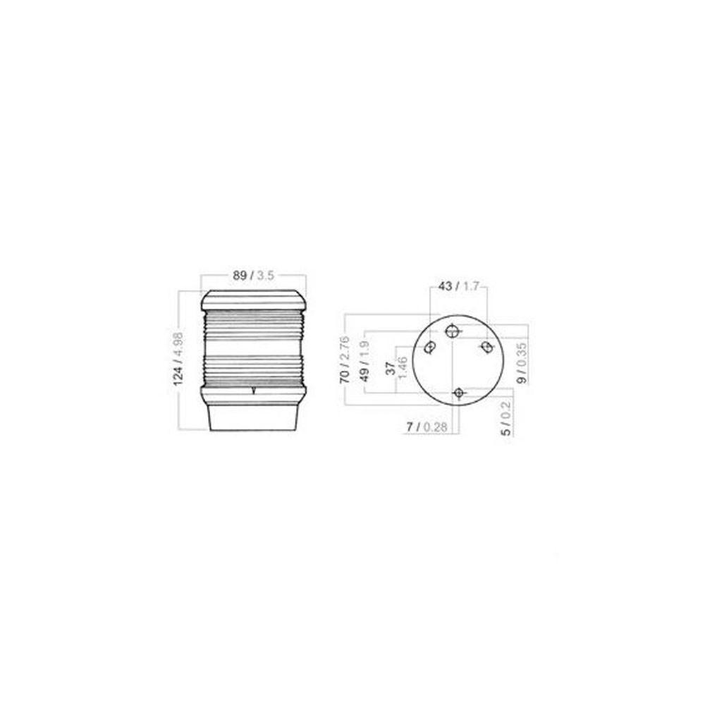 Aquasignal Series 40 All Round White Light (12V Black)