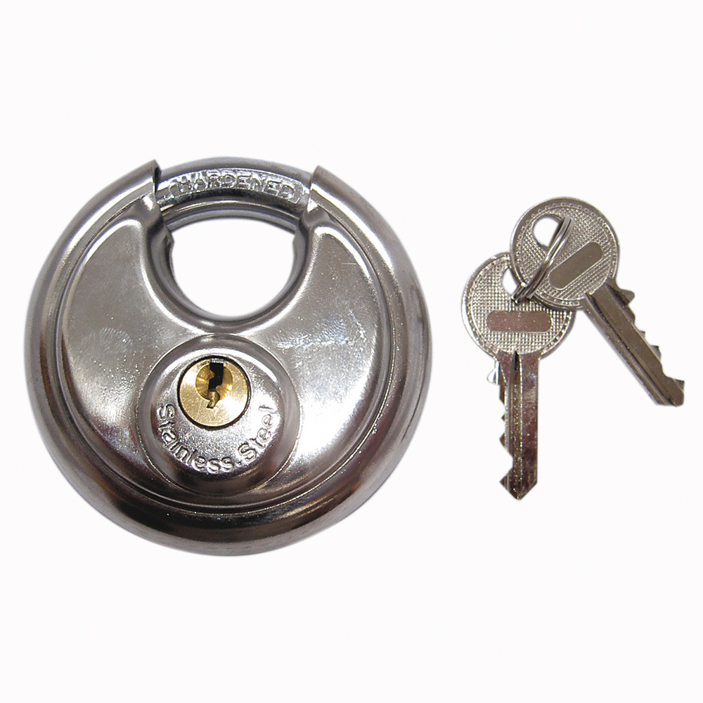Stainless Steel Disc Padlock