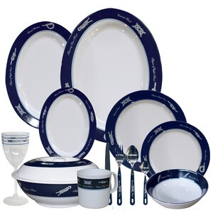 Sea-Knot 6 Setting Melamine Tableware Set