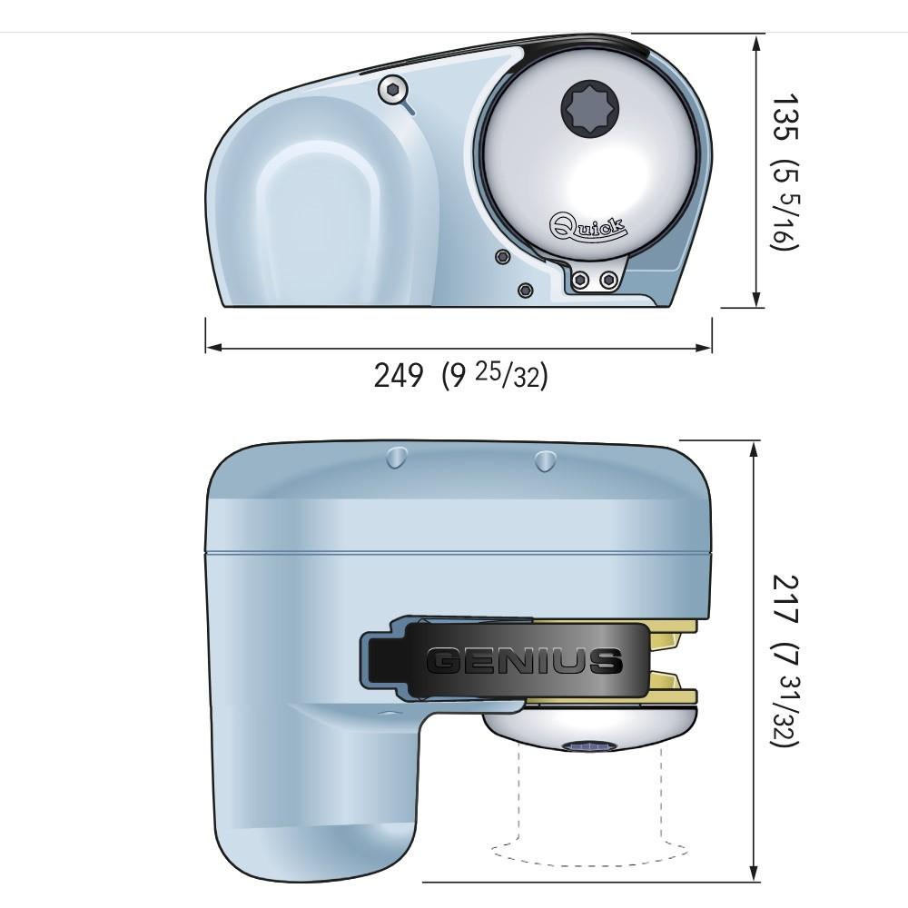 GP2 Genius 2000 Windlass 800W 12V 8mm