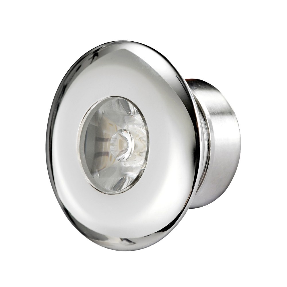 Stainless Steel LED Round Courtesy Light - Blue