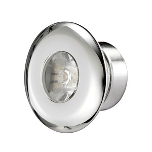Stainless Steel LED Round Courtesy Light - Blue