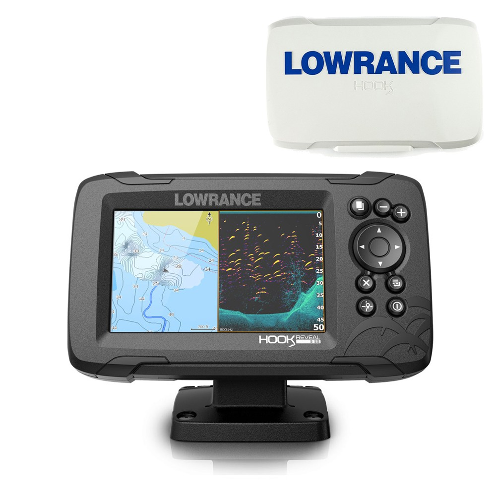 Hook Reveal 5 50_200 HDI Chartplotter Fishfinder Combo