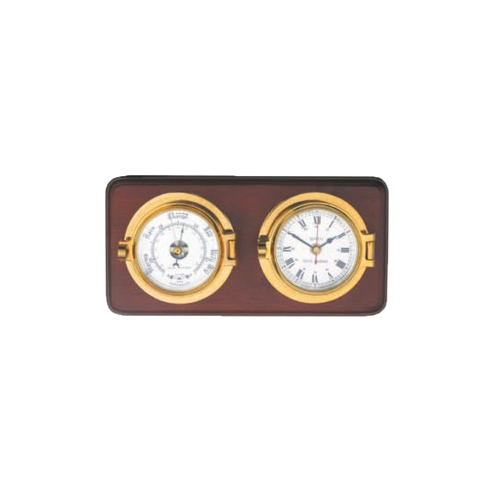 Mounted Channel Clock & Barometer Set