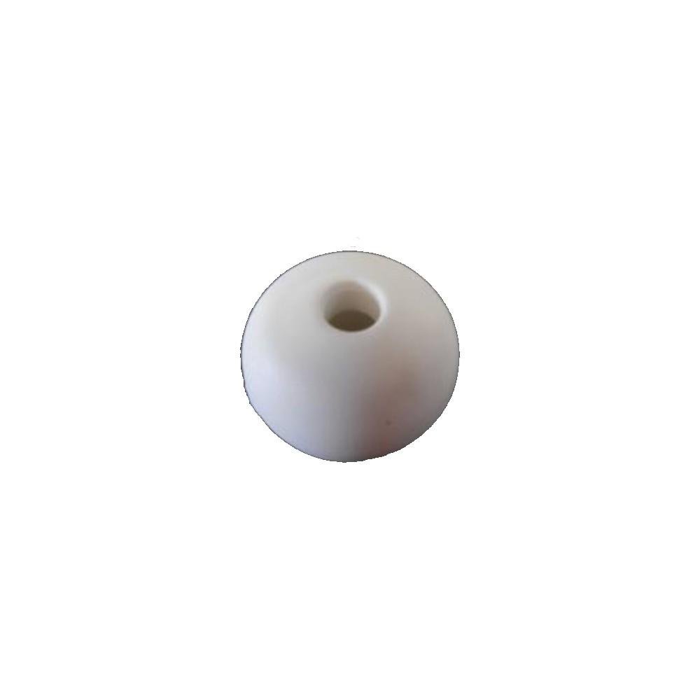 Parrel Bead 32mm White