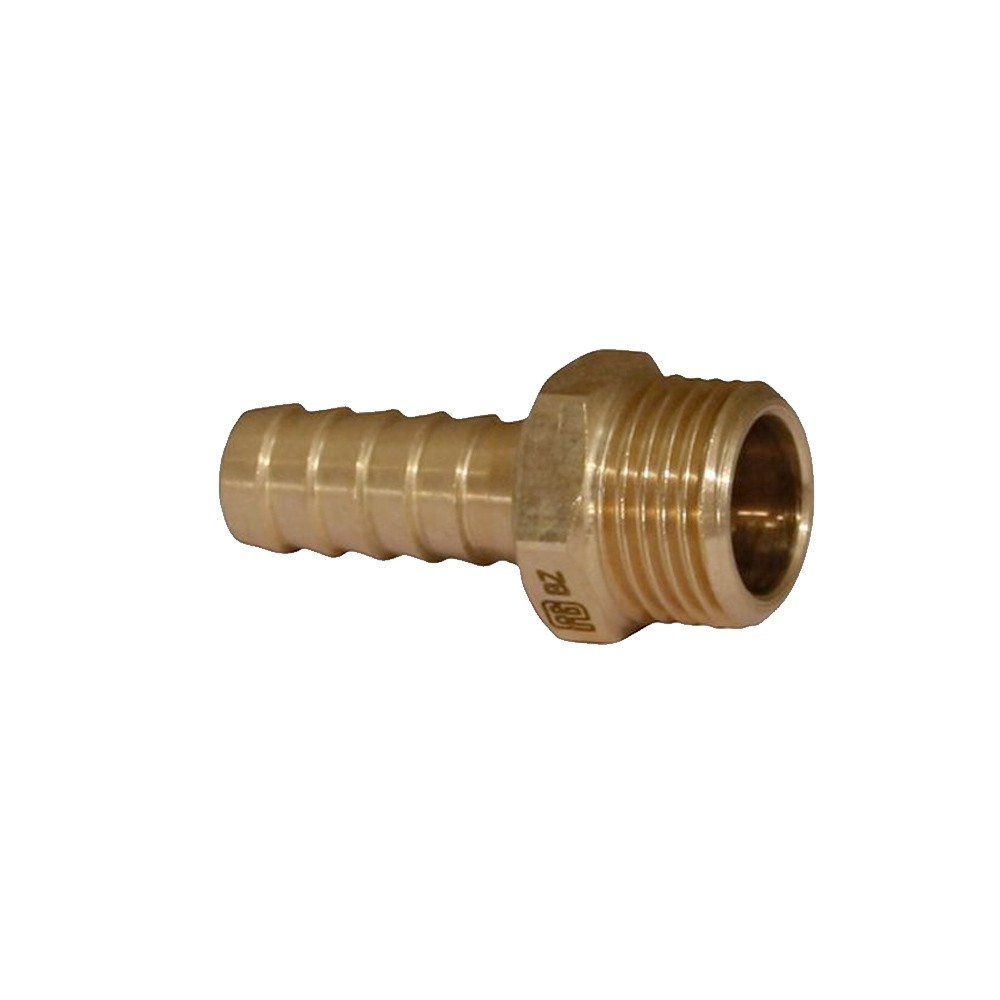 "Hose Tail Male 1/2""BSPx19mm Bronze"