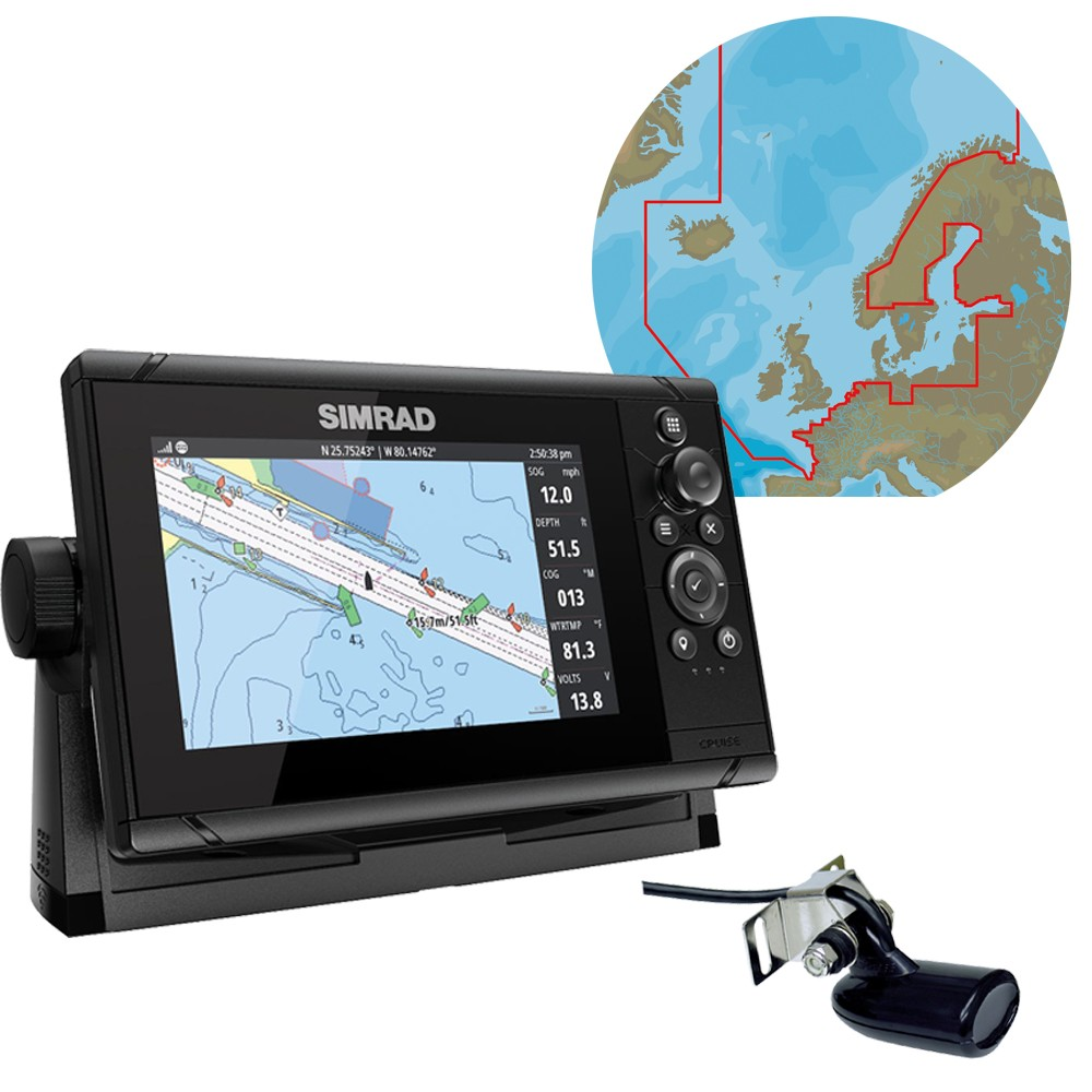 Cruise 7 Chartplotter & Fishfinder with C-Map Max-N+ Northern & Central Europe Chart