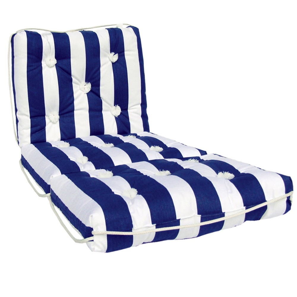 Marine Cushion Navy/White Triple