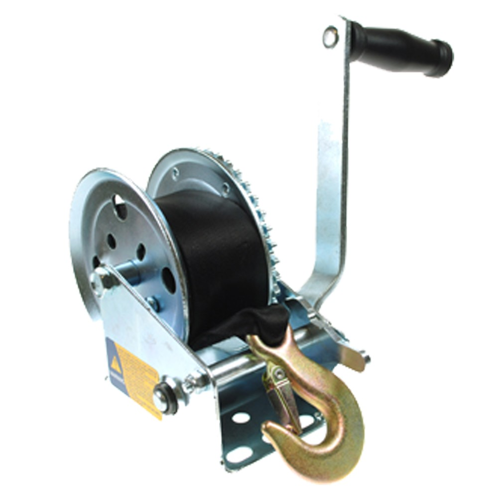Trailer Winch With Strap and Hook