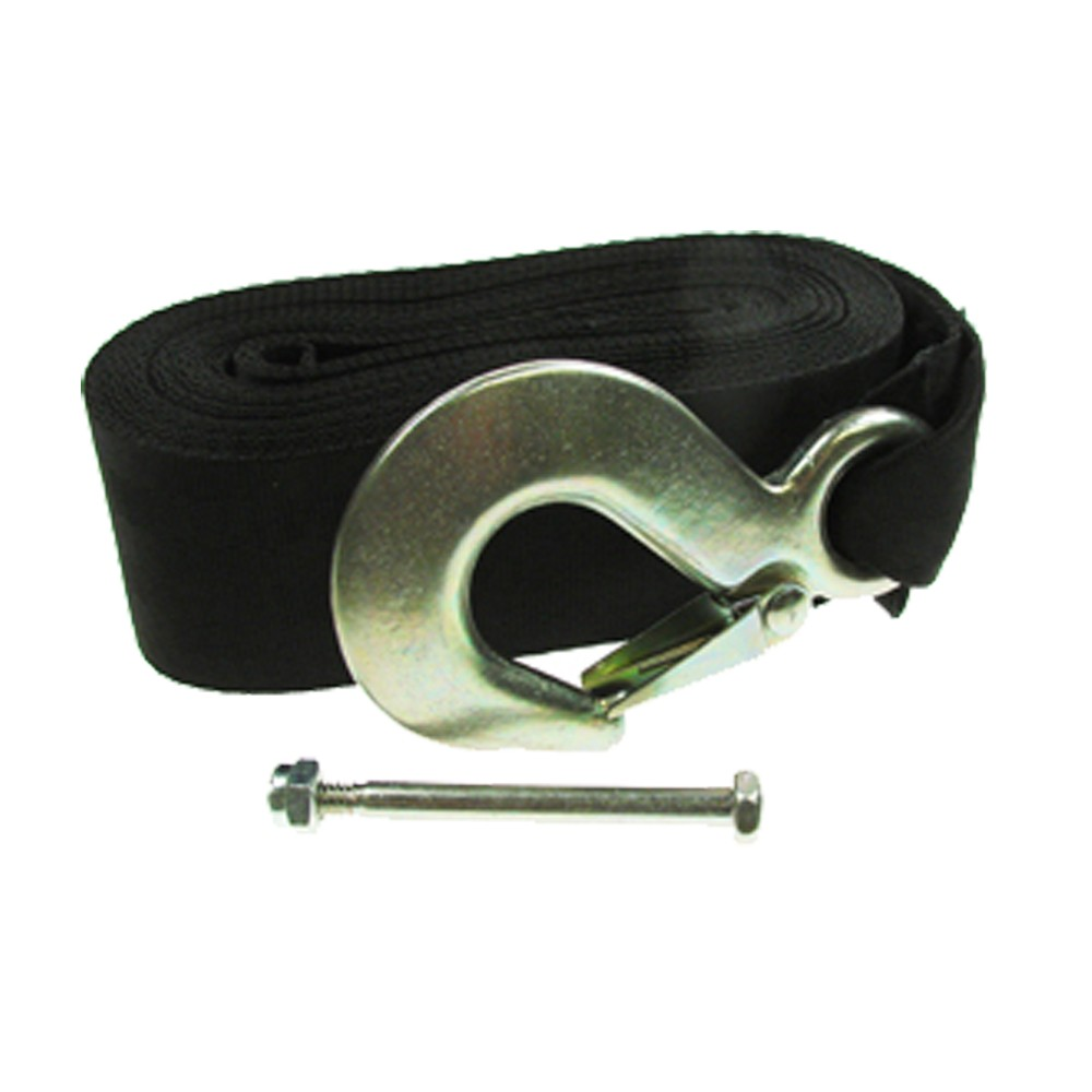 Polyester Trailer Winch Strap With Hook