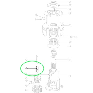 24-40 Gear Spindle Sleeve