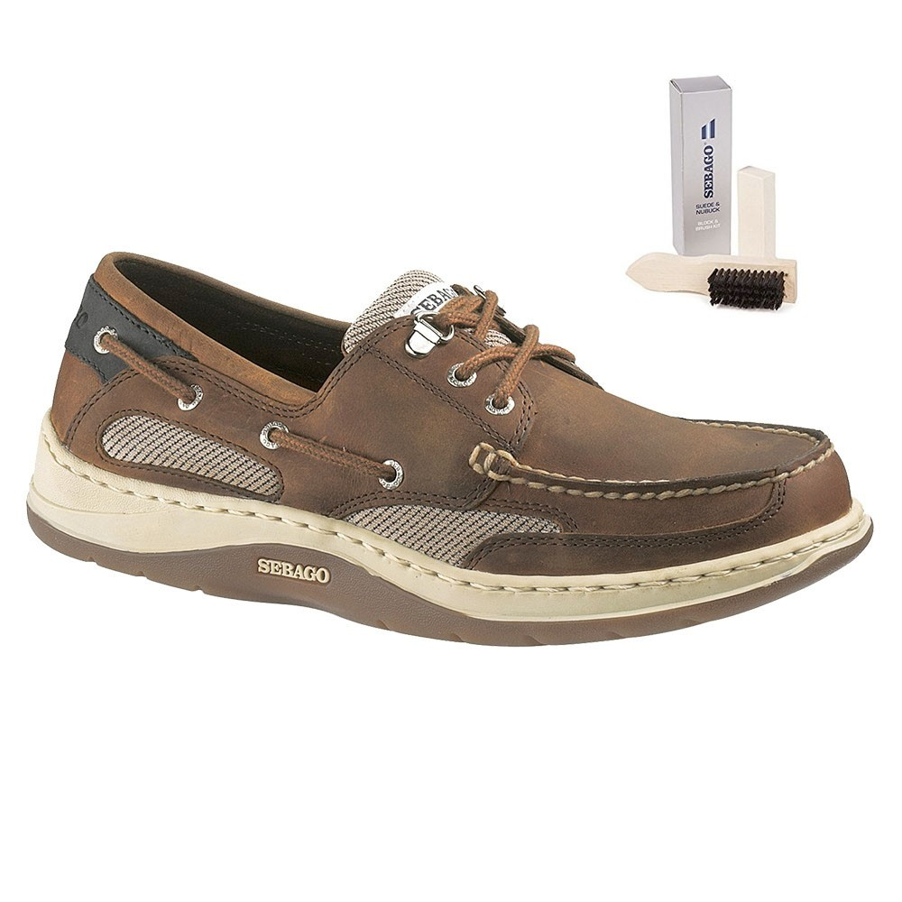 Clovehitch Leather Boat Shoe - Walnut (Brown Cin) UK