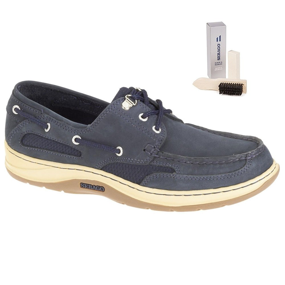Clovehitch Leather Boat Shoe - Navy UK