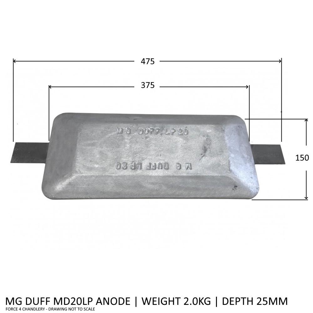 MD20LP Magnesium Anode