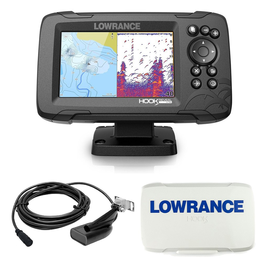 Hook Reveal 5 83_200 HDI Chartplotter Fishfinder Combo