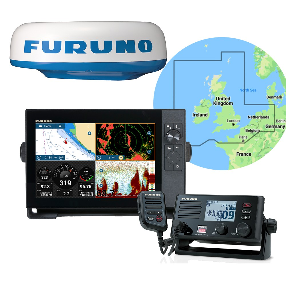 TZT12F Multifunction Display + DRS4DL Radar + FM4800 VHF Radio Pack