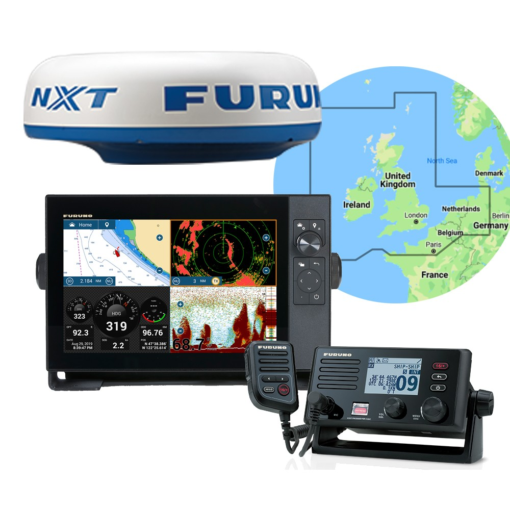 TZT12F Multifunction Display+ DRS4D-NXT Radar+ FM4800 VHF Radio Pack